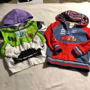 Set of 2- boys Disney zip up hoodies!